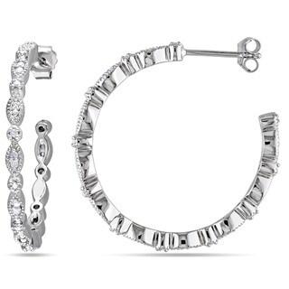 Sterling Silver 1/4ct TDW Diamond Hoop Earrings (H-I, I2-I3)