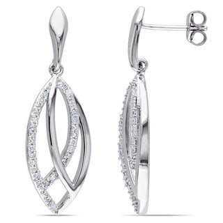 Miadora Sterling Silver 1/5ct TDW Diamond Dangle Earrings (H-I, I2-I3)