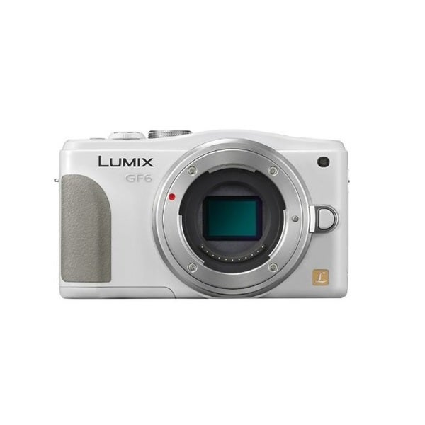 Panasonic Lumix DMC-GF6 Mirrorless Micro Four Thirds 16MP White Digital Camera Body