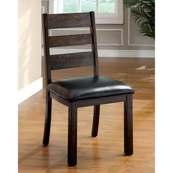 Furniture of America Jolson Transitional Natural Wood Grain Side Chair (Set of 2)