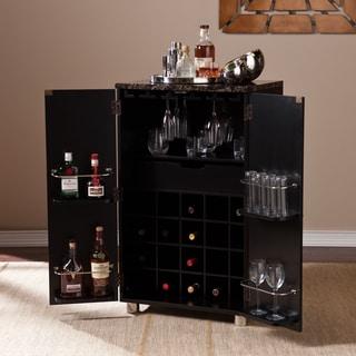 Upton Home Black Capeton Contemporary Bar Cabinet