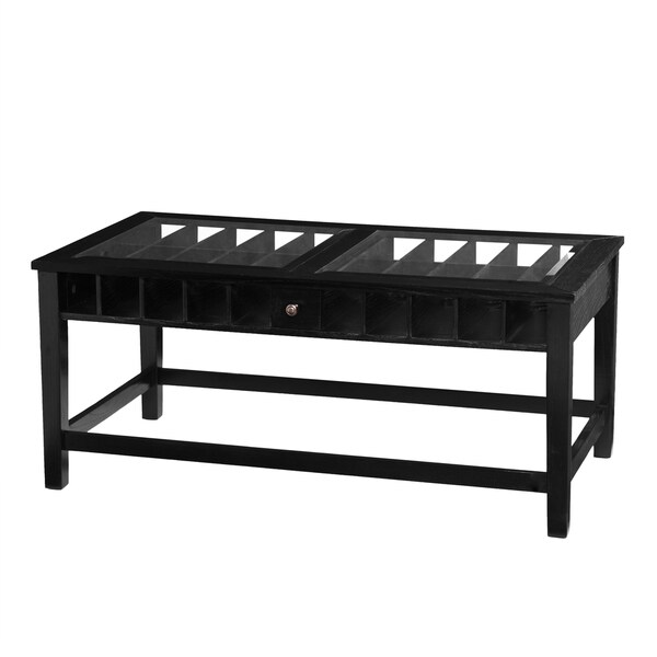 Upton Home Allegrino Wine Display Cocktail Coffee Table 16343211 Shopping