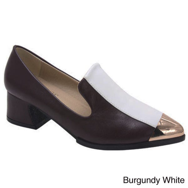 BUMPER KANYE01 Women's Block Heel Loafers