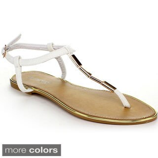 BUMPER RINCON03 Women's Buckle Ankle Strap Thong Sandals