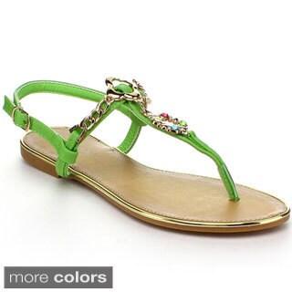 Wildrose 'Rincon06' Women's T-strap Sandals