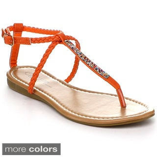 Wildrose 'Xanthia11' Women's Ankle Strap Sandals