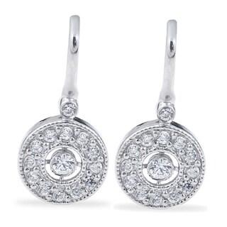 10k White Gold 3/8ct TDW Diamond Vintage Halo Earrings (H-I, I1-I2)