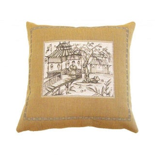French Woven Country, Oriental Design Decorative Throw Pillow