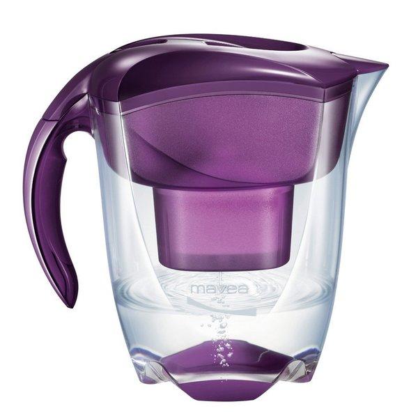 Mavea Elemaris XL Eggplant Purple Water Filtration Pitcher