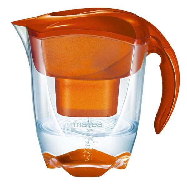 Mavea Elemaris XL Tangerine Orange Water Filtration Pitcher 13211727