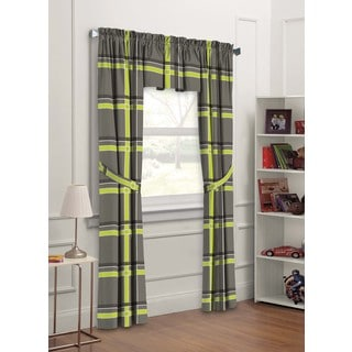 X-Factor Plaid 5-piece Window Panel Set