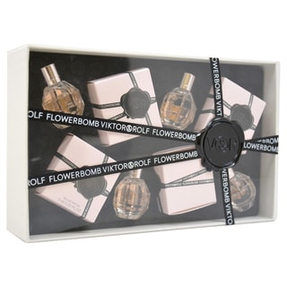 Viktor & Rolf Flowerbomb Women's 4-piece Mini Gift Set 4 x 7ml Flowerbomb EDP Splash