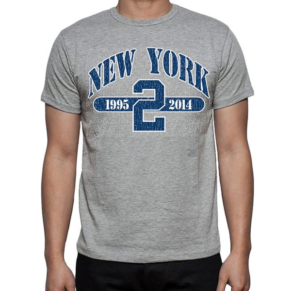 Men's Grey New York Baseball '2' T-shirt