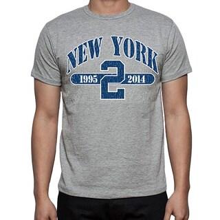 Men's Grey New York Baseball '2' T-shirt