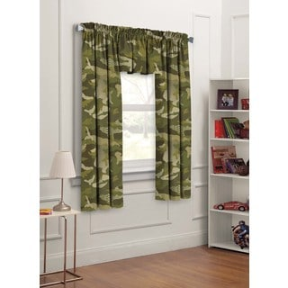 Geo Camo Curtain Panel Pair