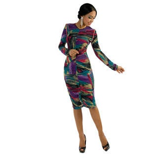 Kayla Collection Vol.2 Women's Multicolored Abstract Print Dress
