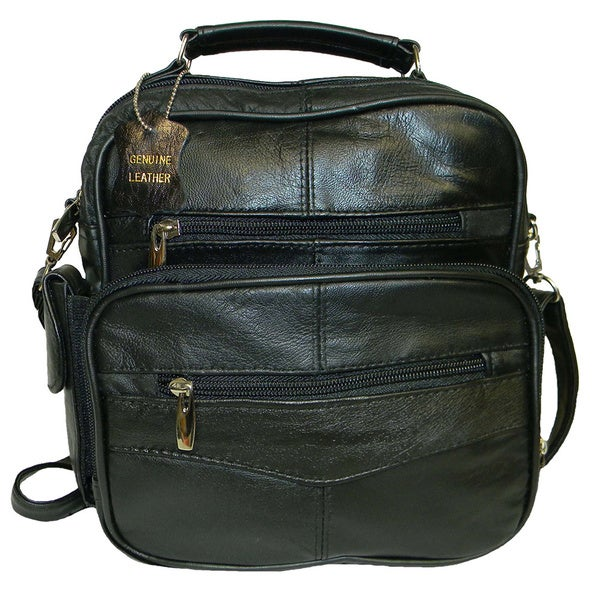 Hollywood Tag Black Lambskin Handheld Side Bag