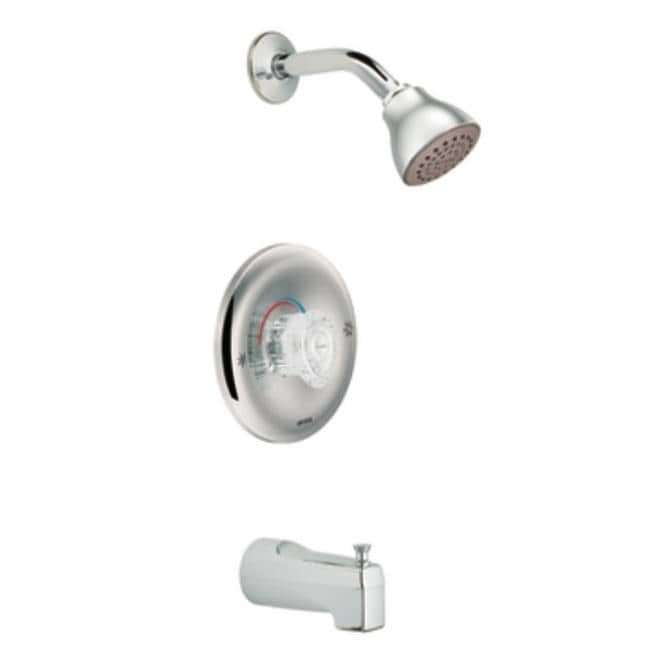 Moen T184 Chrome Posi-Temp Tub/Shower Valve Trim, 1-Function Balancing Cartridge