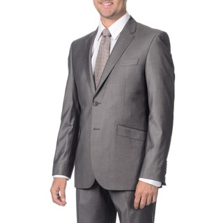 English Laundry Men's Grey Peak Lapel 2-piece Suit