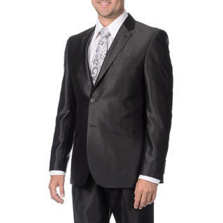 English Laundry Men's Charcoal 2-piece Suit