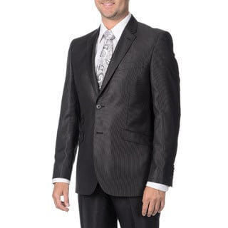 English Laundry Men's Black 2-piece Suit