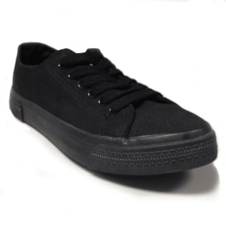 Women's Black Canvas Sneakers