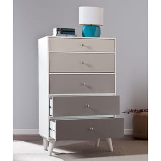 Upton Home Grayscale Colorblock 5-Drawer Anywhere Storage Cabinet