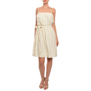 Emanuel Ungaro Women's Embroidered Silk Day Cocktail Dress