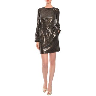 Jill Stuart Women's Sequin Dot Belted Cocktail Party Dress