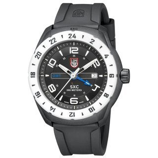 Luminox Men's A.5027 'SXC' Black/White Dial Black Rubber Strap Date Time Quartz Watch