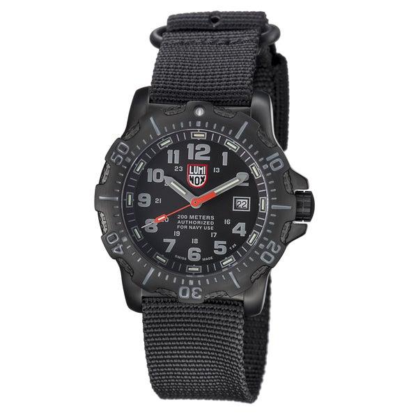 Luminox Men's 4221 Navy Seal Black Dial Stainless Steel Watch