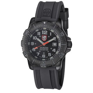 Luminox Men's 4221 Navy Seal Black Dial Stainless Steel Watch