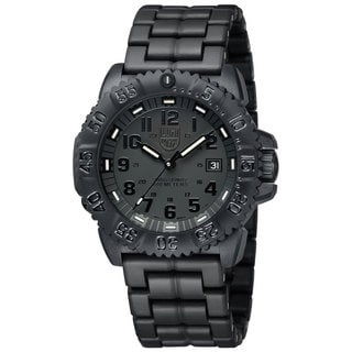 Luminox Men's A.3052.BO 'Colormark' Black Dial Black Polycarbonate Bracelet Quartz Watch