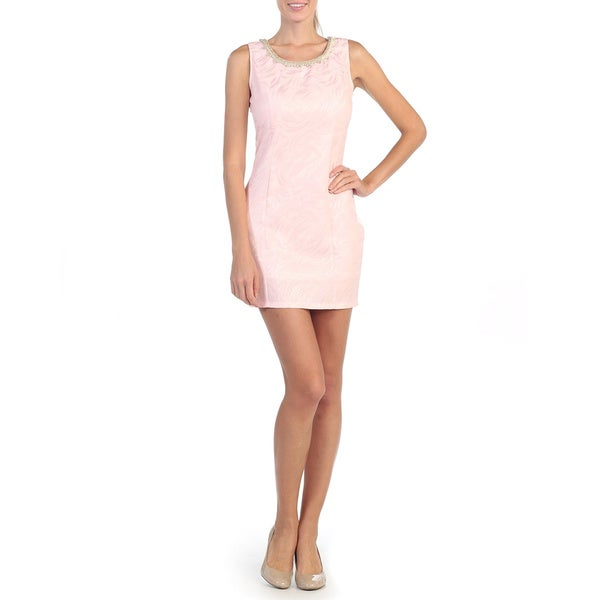 Hadari Women's Blush Swirl Shift Dress
