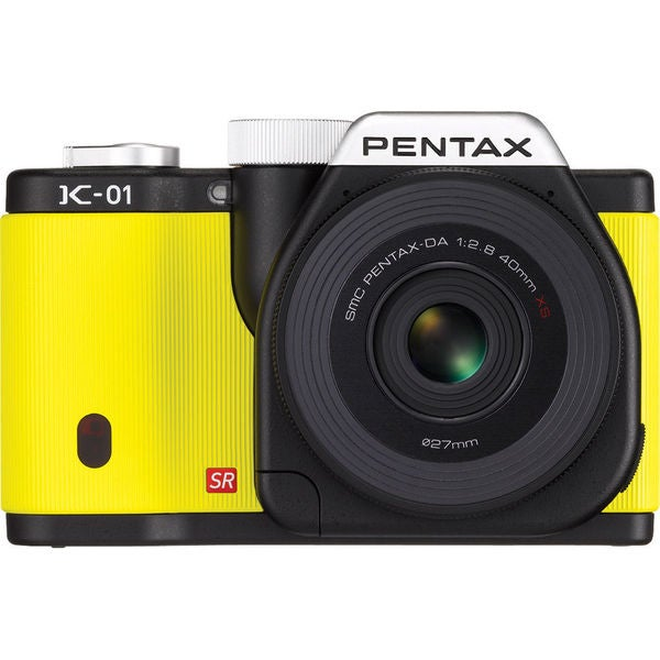 Pentax K-01 Yellow Digital Camera Body with 40mm Lens