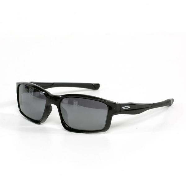 Oakley Unisex Chain Link Sunglasses in Polished Black with Black Iridium Lenses