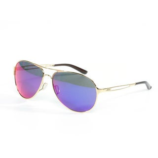 Oakley Women's 'Caveat' Sunglasses in Polished Gold with Fire Eye Lenses