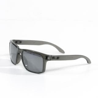 Oakley Unisex 'Holbrook' Sunglasses in Grey Smoke with Black Iridium Lenses