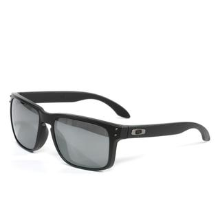 Oakley Unisex 'Holbrook' Sunglasses in Matte Black with Black Iridium Polarized Lenses