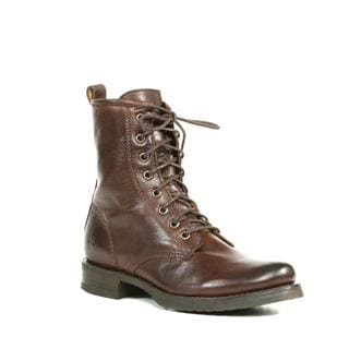Frye Women's Veronica Dark Brown Combat Boots