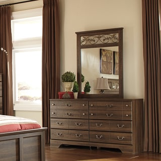 Signature Design by Ashley Allymore Brown Bedroom Mirror