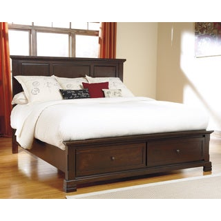Signature Designs by Ashley Noremac Dark Brown Storage Bed
