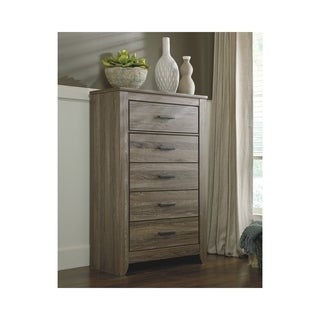 Signature Design by Ashley Zelen Grey Five Drawer Chest