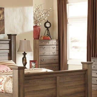 Signature Design by Ashley Allymore Brownish Gray Five Drawer Chest