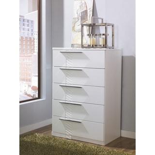 Signature Designs by Ashley Jansey White 5-drawer Chest