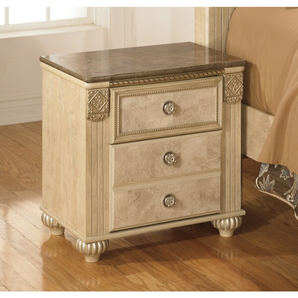 Signature Designs by Ashley Saveaha Light Beige 2-drawer Nightstand