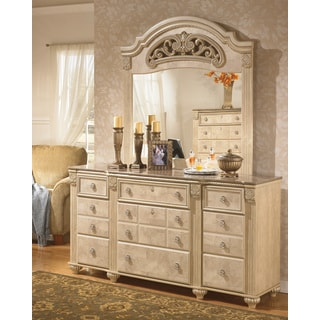 Signature Designs by Ashley 'Saveaha' Light Beige 9-drawer Dresser