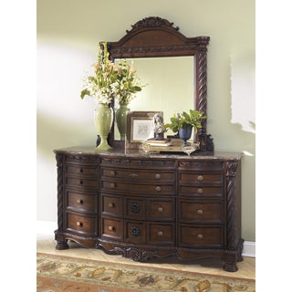 Signature Designs by Ashley North Shore Dark Brown Bedroom Mirror