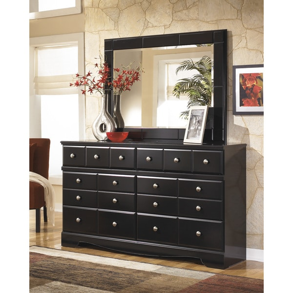 Signature Designs By Ashley Shay Almost Black Dresser