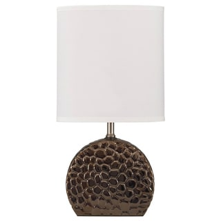 Signature Designs by Ashley Realtin Pebbled Metallic Grey Ceramic Table Lamp